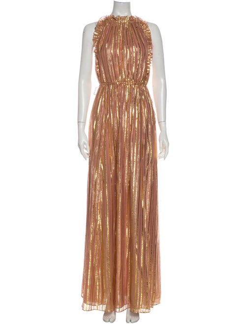 Ulla Johnson Silk Long Dress Metallic