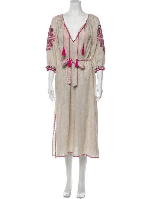 Ulla Johnson Printed Long Dress Brown