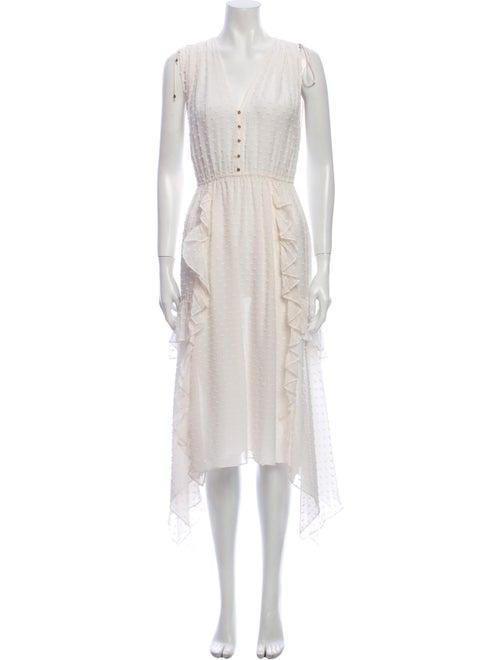 Ulla Johnson Silk Midi Length Dress White
