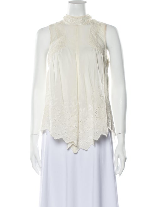 Ulla Johnson Silk Mock Neck Blouse