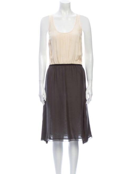 Ulla Johnson Scoop Neck Midi Length Dress Grey