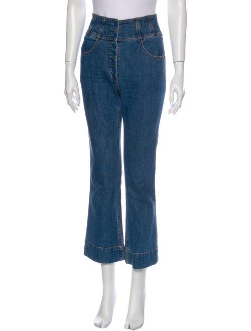 Ulla Johnson High-Rise Flared Jeans Blue