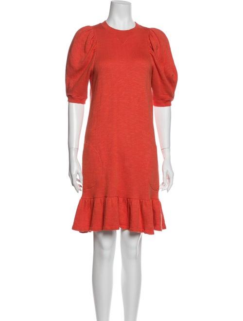 Ulla Johnson Crew Neck Mini Dress Orange