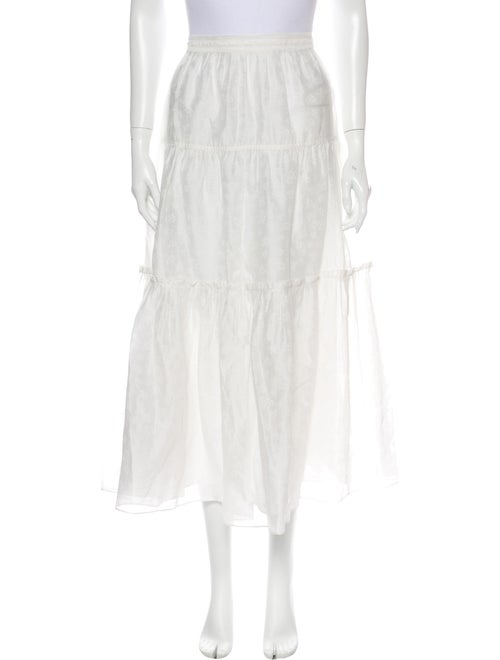 Ulla Johnson Silk Midi Length Skirt White