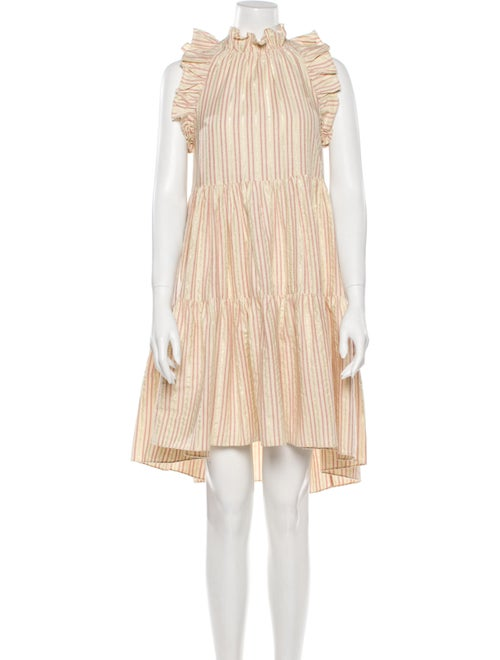 Ulla Johnson Striped Knee-Length Dress