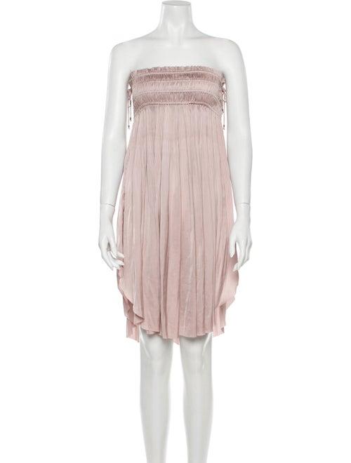 Ulla Johnson Strapless Mini Dress Pink
