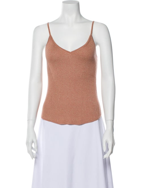 Ulla Johnson Cashmere Scoop Neck Top Pink