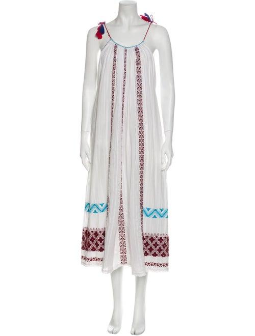 Ulla Johnson Printed Long Dress White