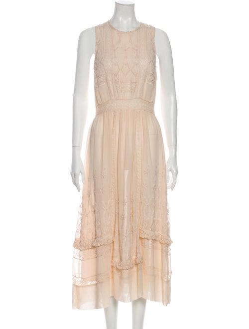 Ulla Johnson Silk Long Dress Pink