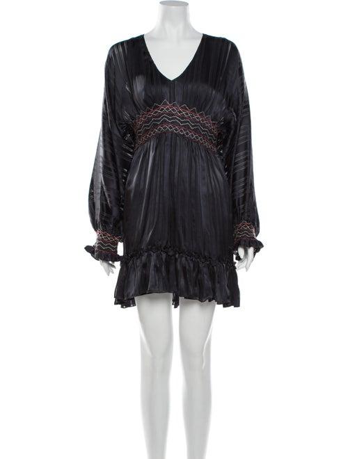Ulla Johnson Silk Mini Dress Grey