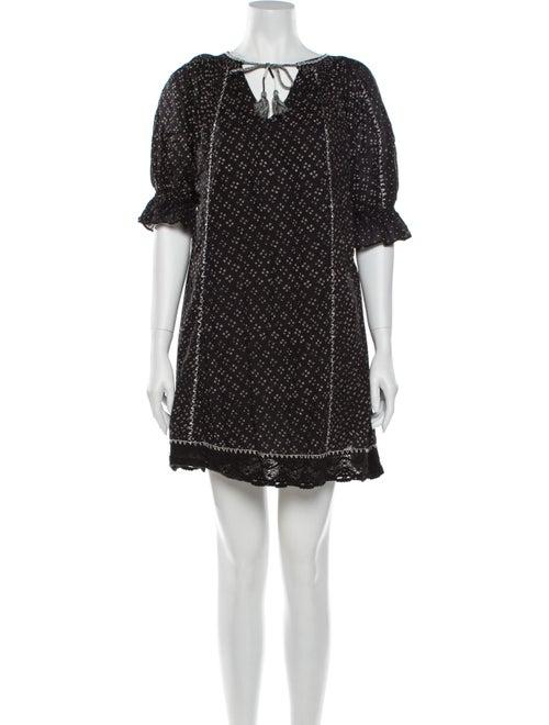 Ulla Johnson Printed Mini Dress Black