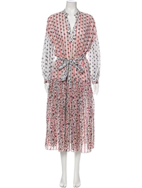 Ulla Johnson Printed Midi Length Dress White