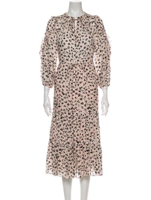 Ulla Johnson Floral Print Long Dress Pink