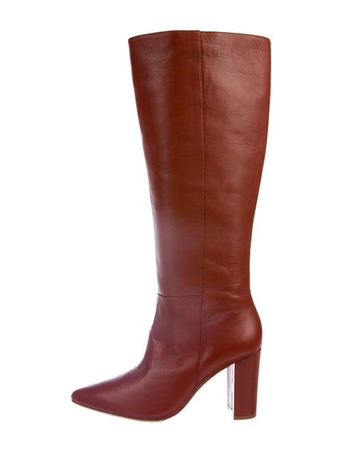 Ulla Johnson Leather Boots Orange