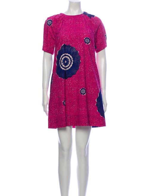 Ulla Johnson Printed Mini Dress Pink