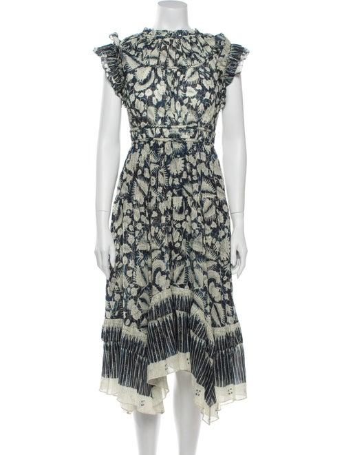 Ulla Johnson Printed Long Dress Blue