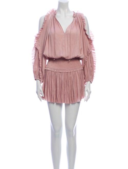 Ulla Johnson V-Neck Mini Dress Pink