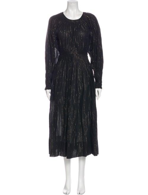 Ulla Johnson Crew Neck Long Dress Black