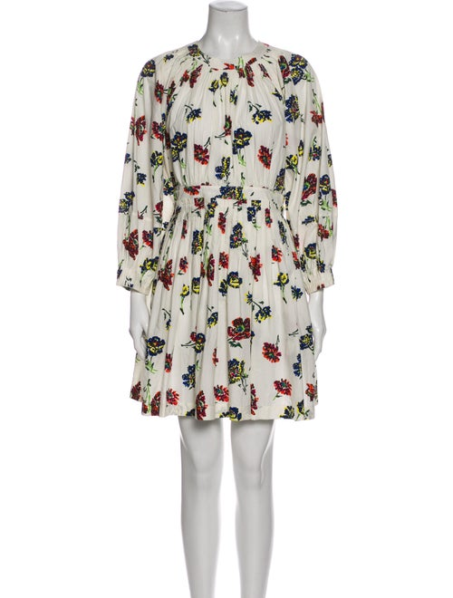 Ulla Johnson Floral Print Mini Dress White
