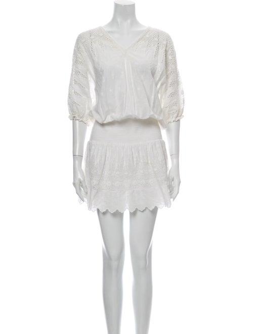 Ulla Johnson V-Neck Knee-Length Dress