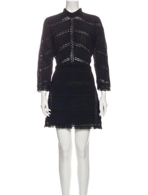 Ulla Johnson Silk Mini Dress Black