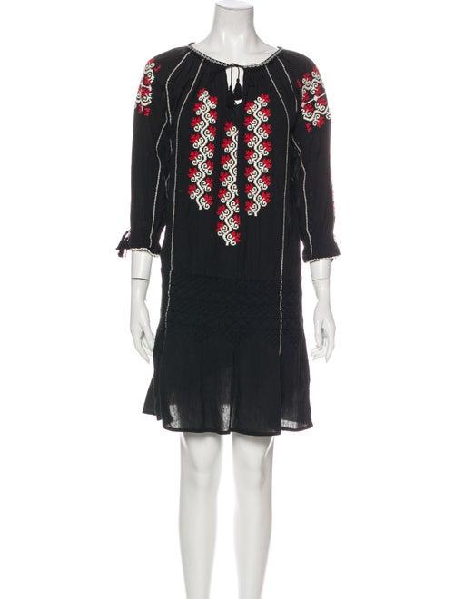 Ulla Johnson Scoop Neck Mini Dress Black