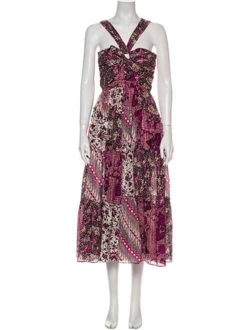 Ulla Johnson Printed Long Dress Purple