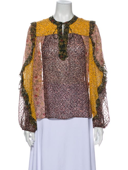 Ulla Johnson Silk Printed Blouse