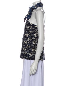 Ulla Johnson Floral Print Tie Neck Blouse