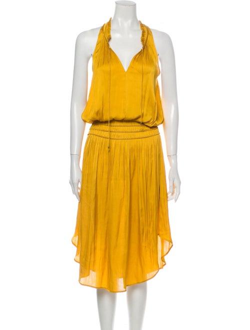 Ulla Johnson Halterneck Long Dress Gold