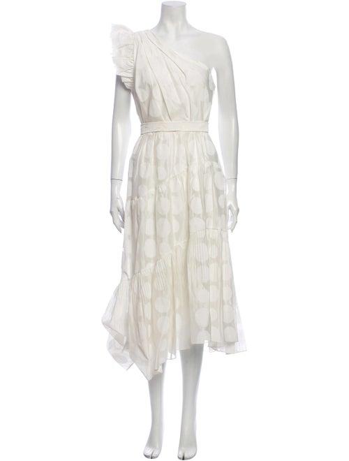 Ulla Johnson One-Shoulder Long Dress White