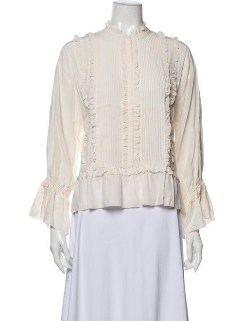 Ulla Johnson Ruffle Style Blouse Silk Blouse White