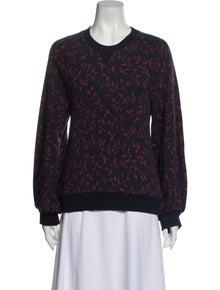 Ulla Johnson Printed Crew Neck Sweatshirt