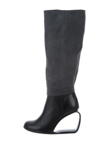 United Nude Suede Cutout Boots None