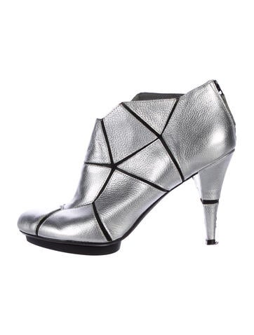 United Nude Metallic Round-Toe Ankle Boots None