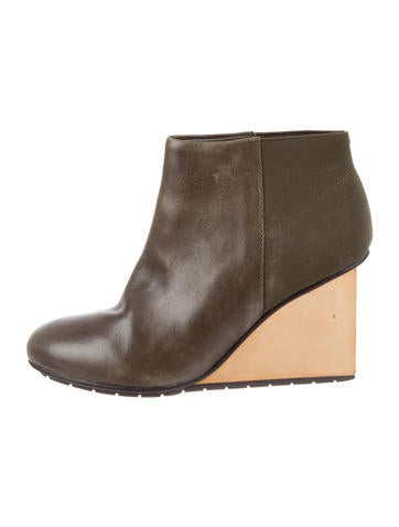 United Nude Leather Wedge Boots None
