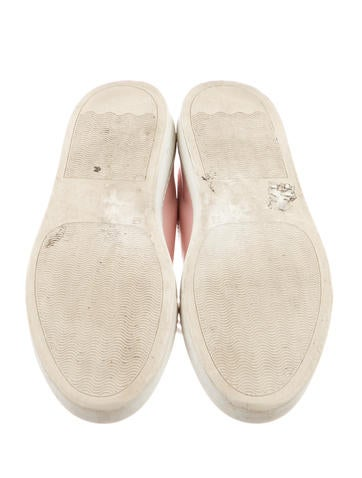 Leather Round-Toe Sneakers