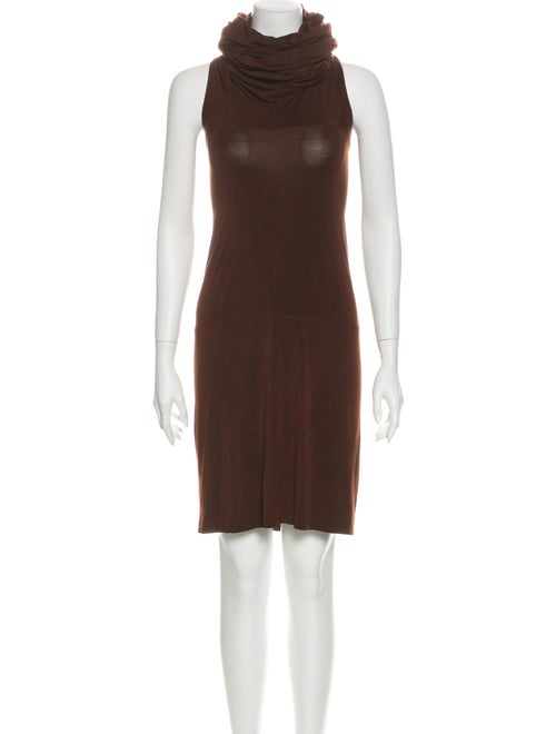 Urban Zen Turtleneck Mini Dress Brown