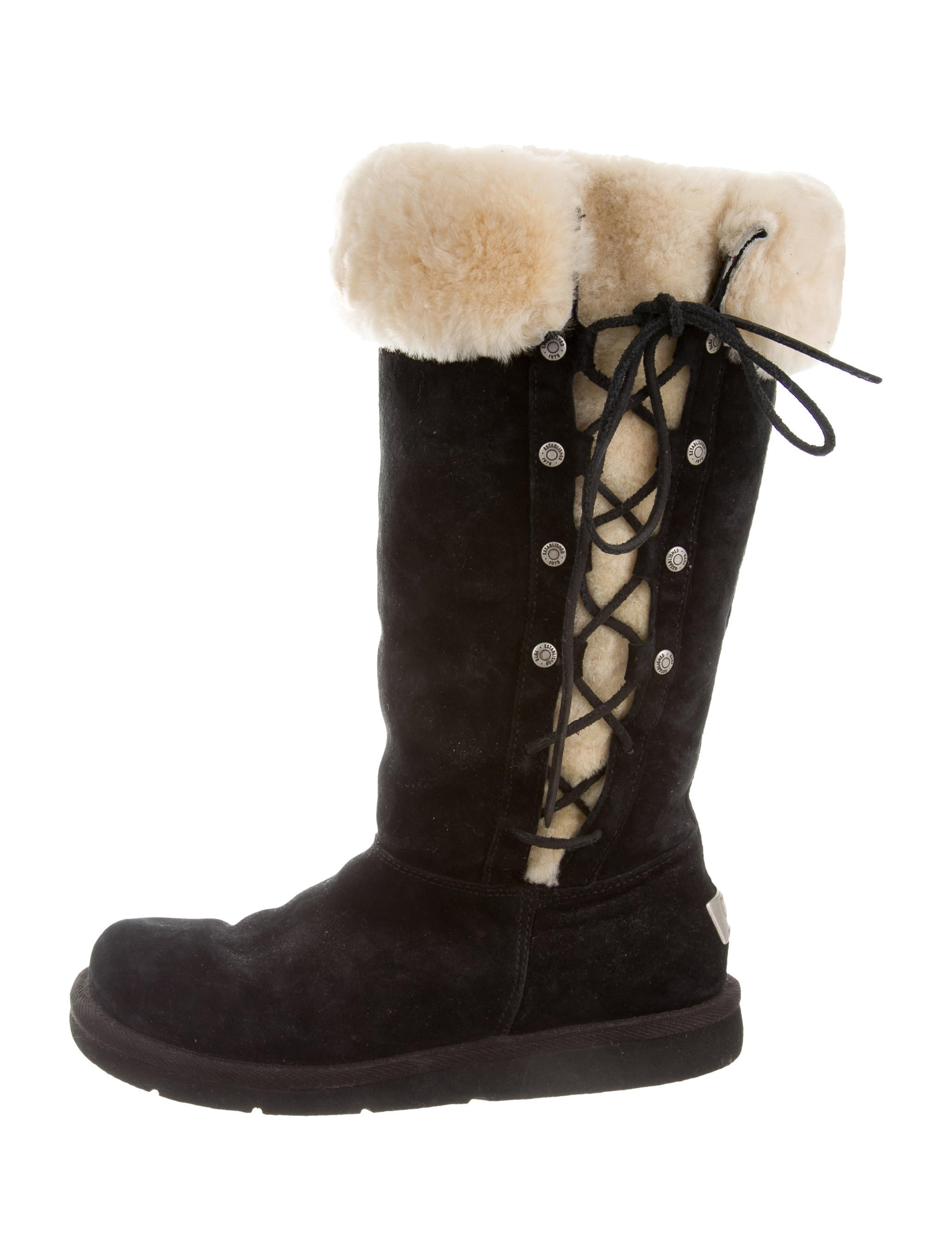 Ugg Australia Shearling Lace Up Boots Shoes Wuugg20932