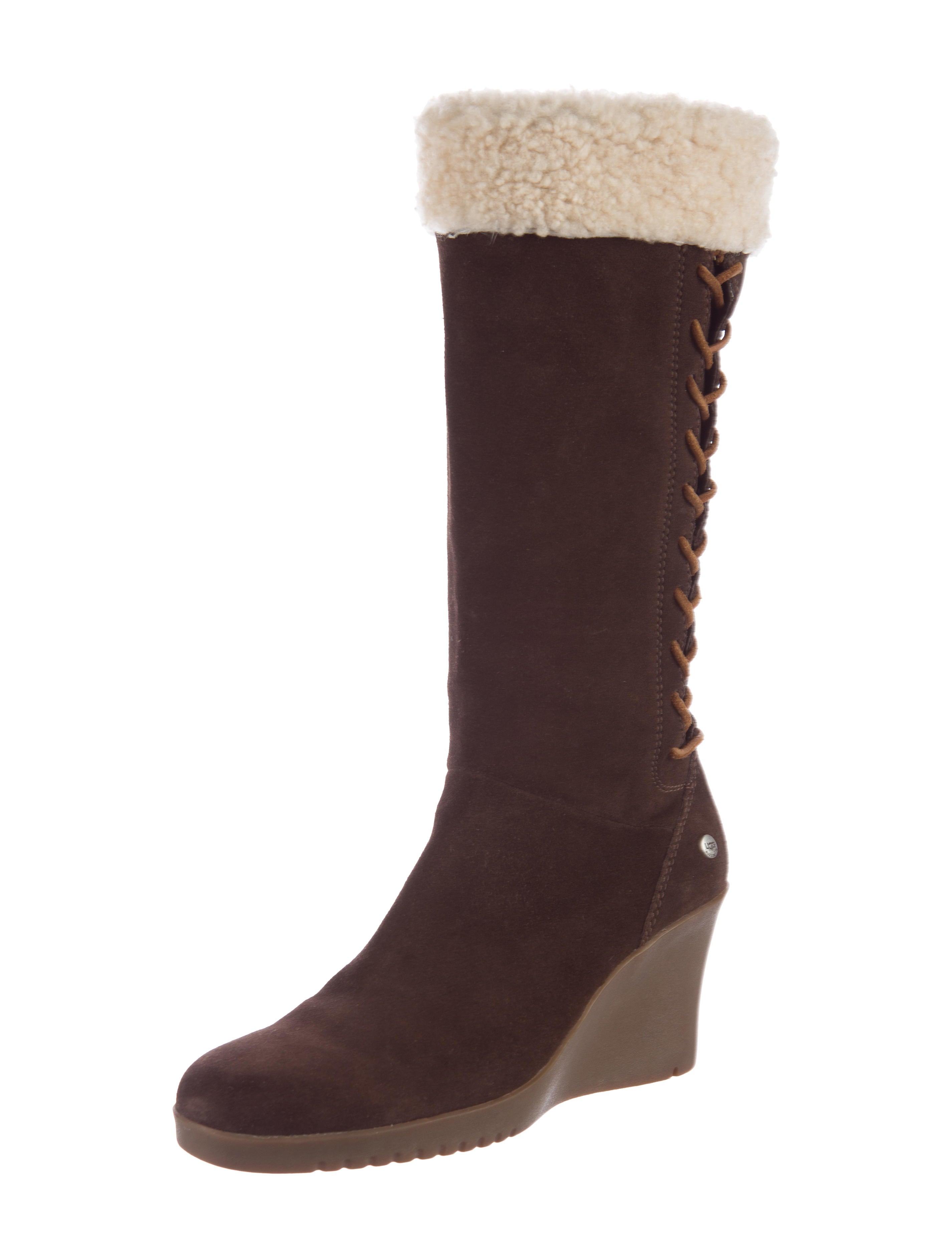 ugg australia shearling wedge boots shoes wuugg20946