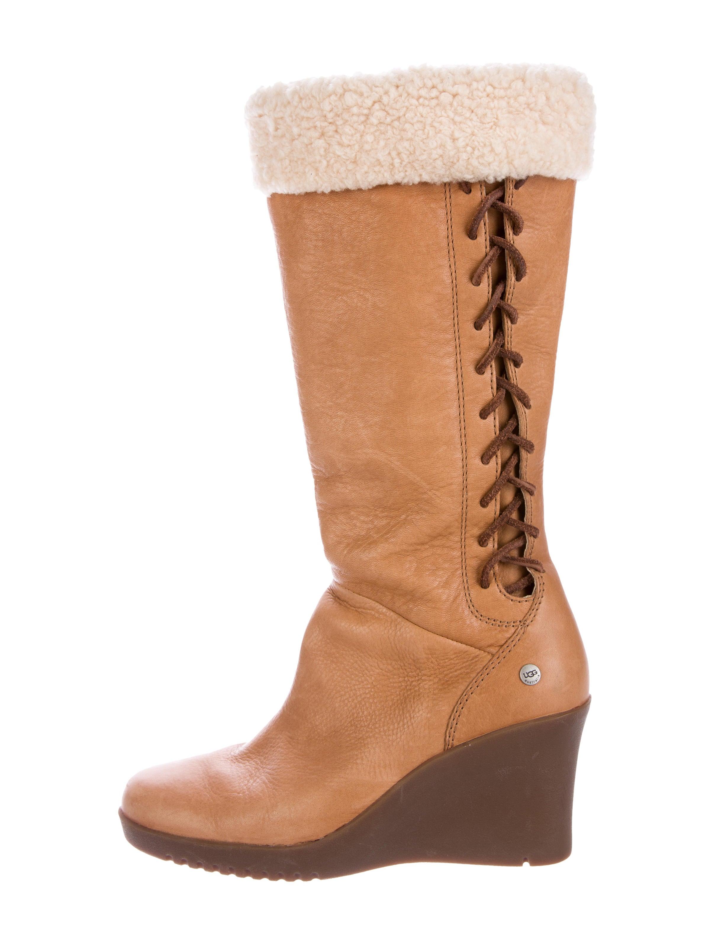 ugg australia shearling wedge boots shoes wuugg20947