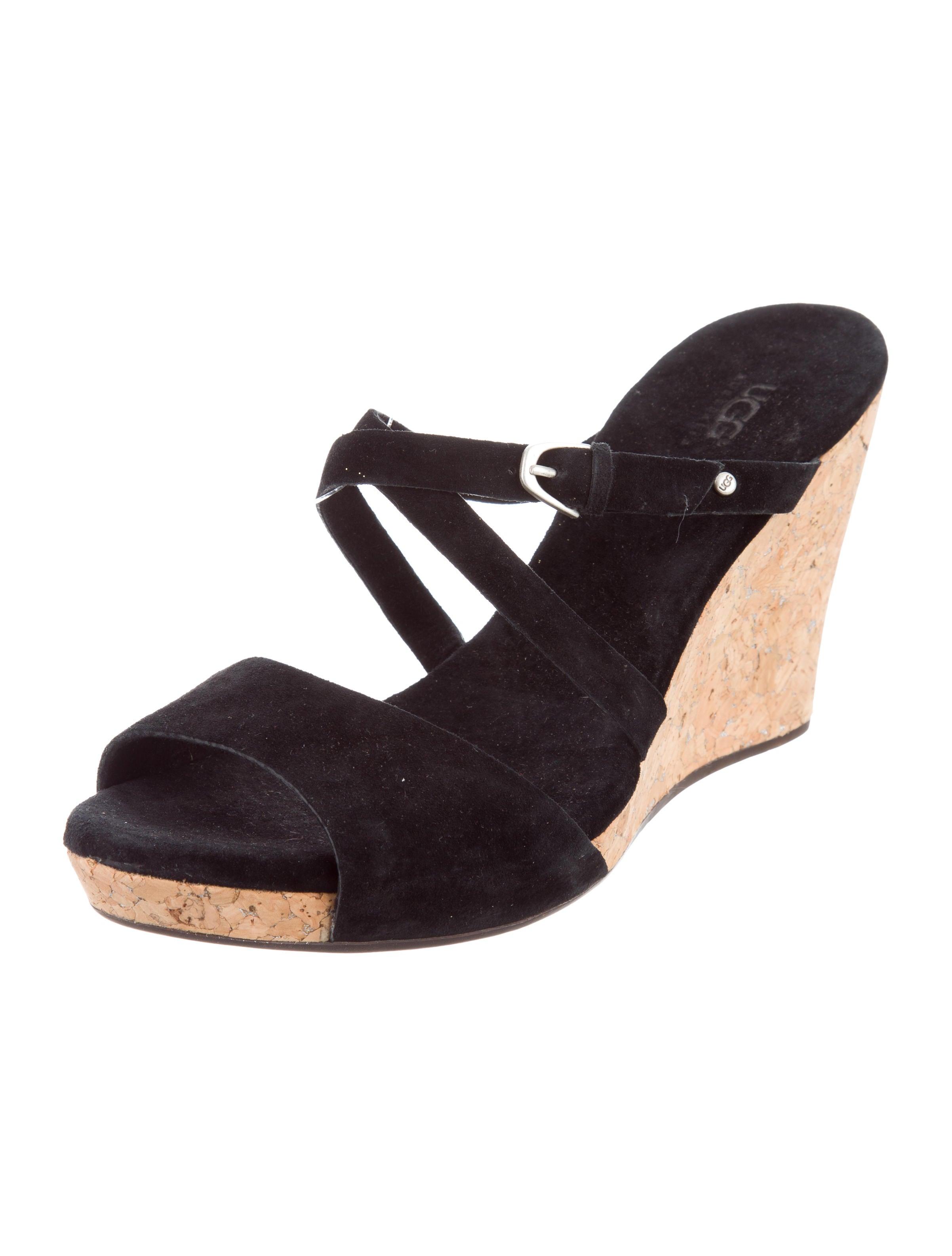 ugg australia suede platform wedges shoes wuugg20968