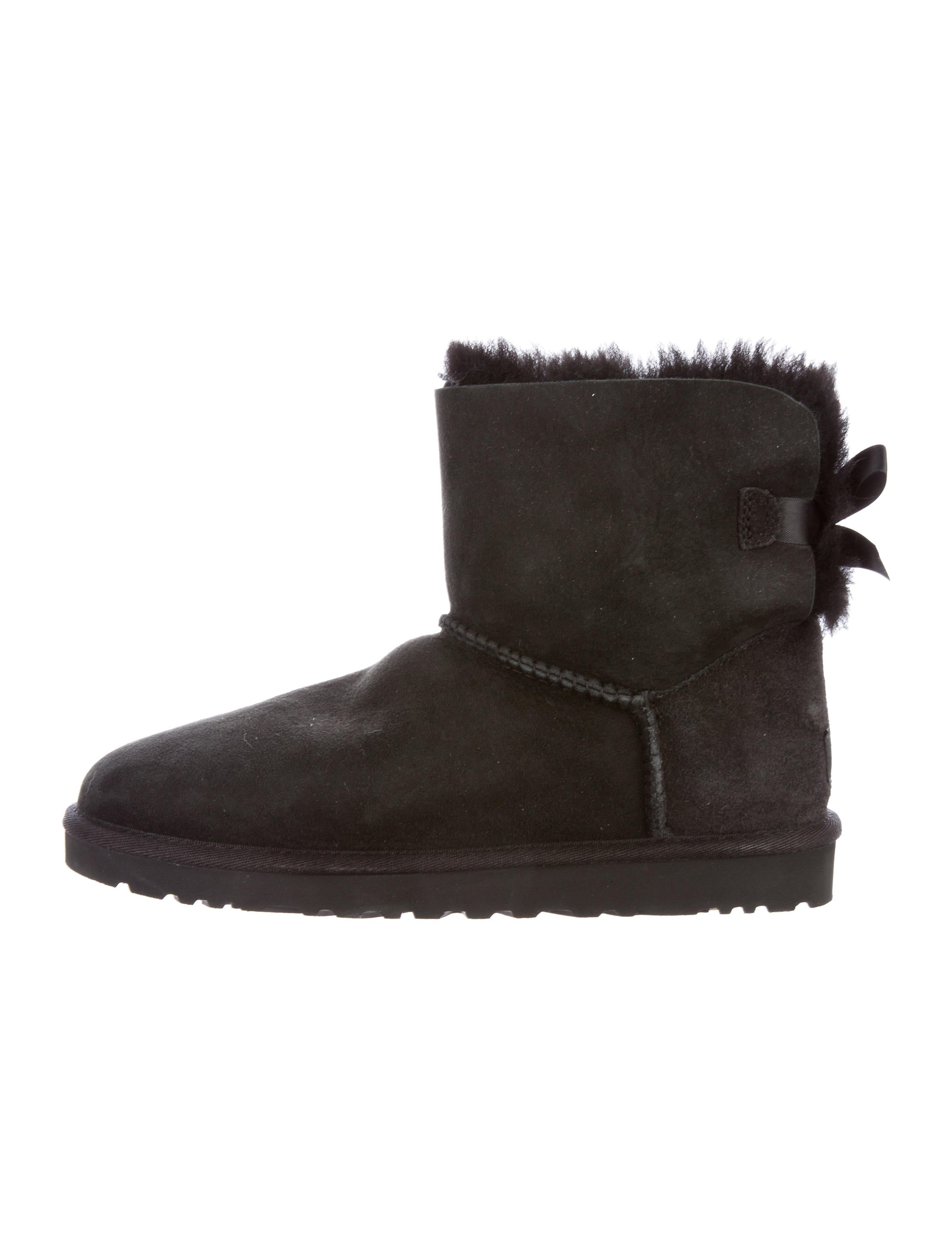 UGG Australia Suede Bow-Accented Ankle Boots