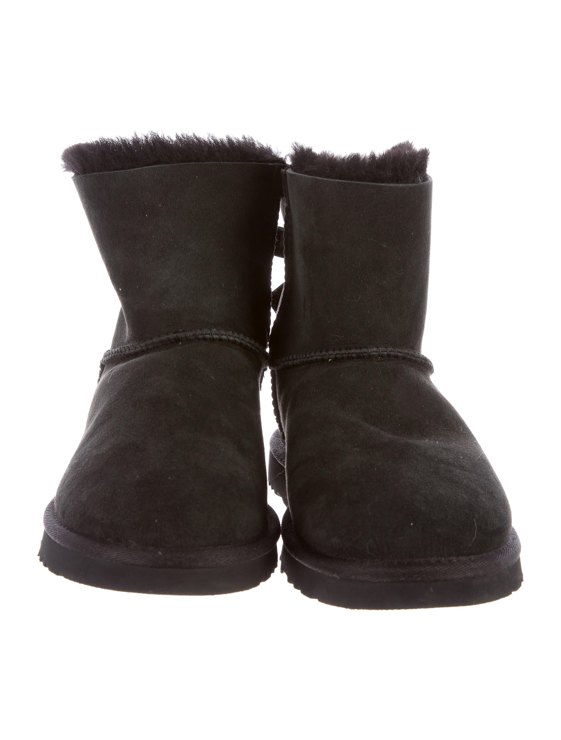 ugg australia bow accented suede ankle boots shoes