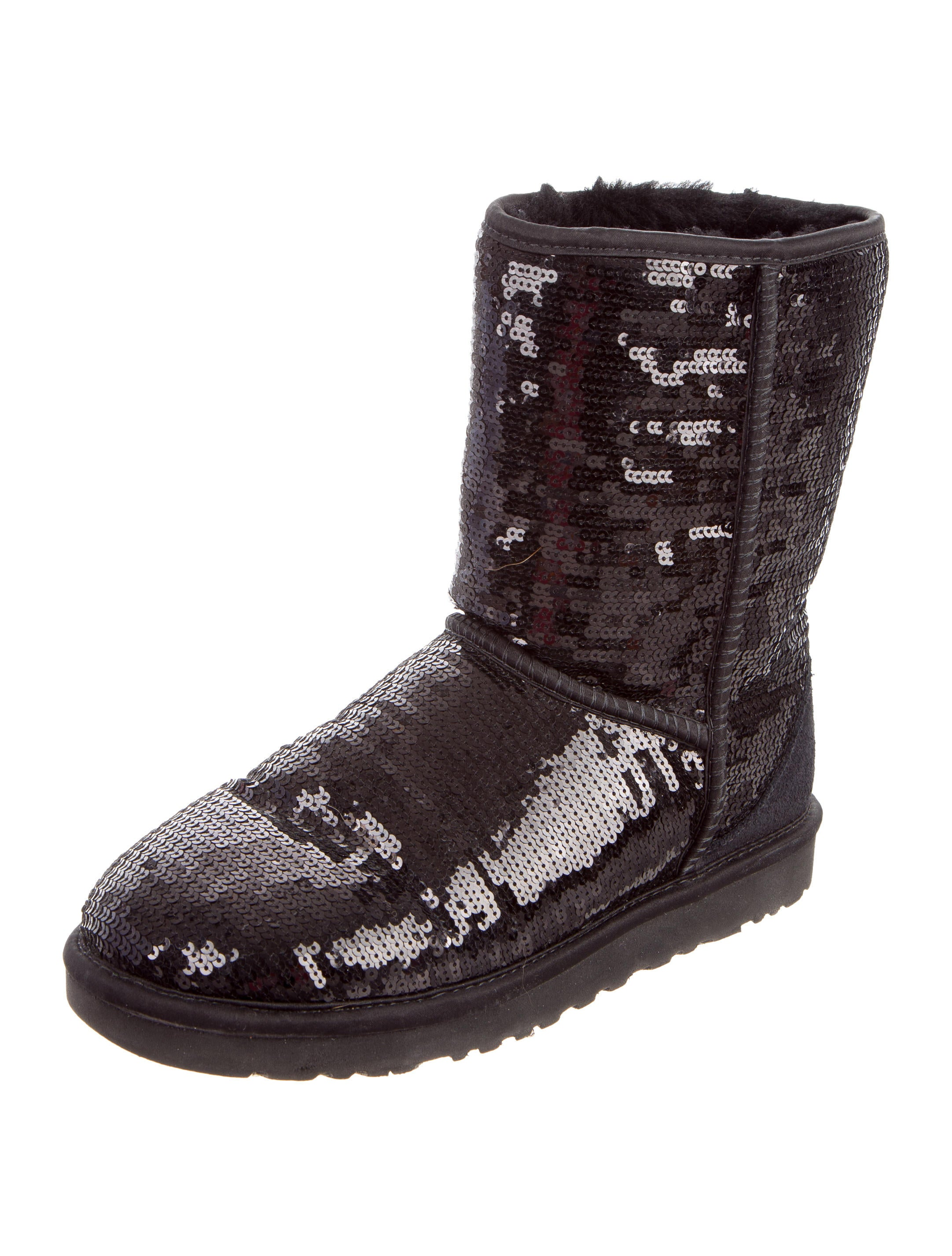 womens black sequin ugg boots