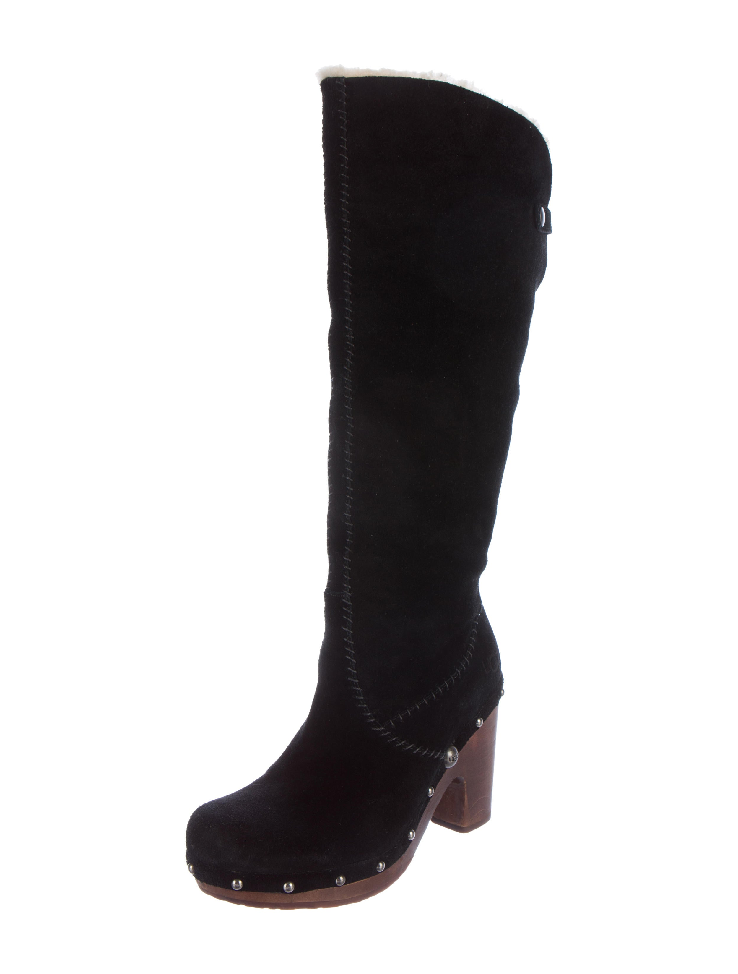 ugg australia suede leather knee high boots shoes