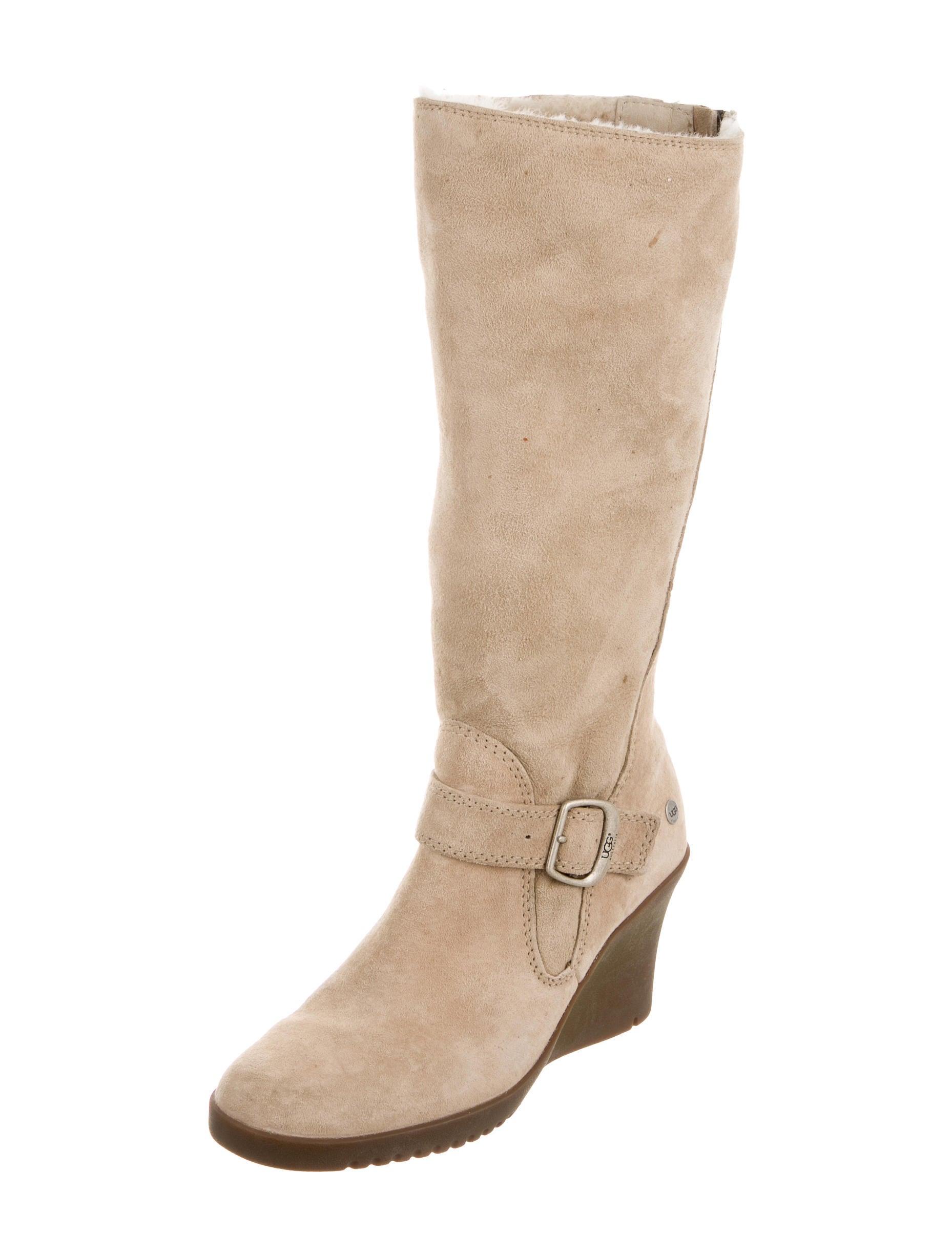 ugg australia shearling wedge boots shoes wuugg21116