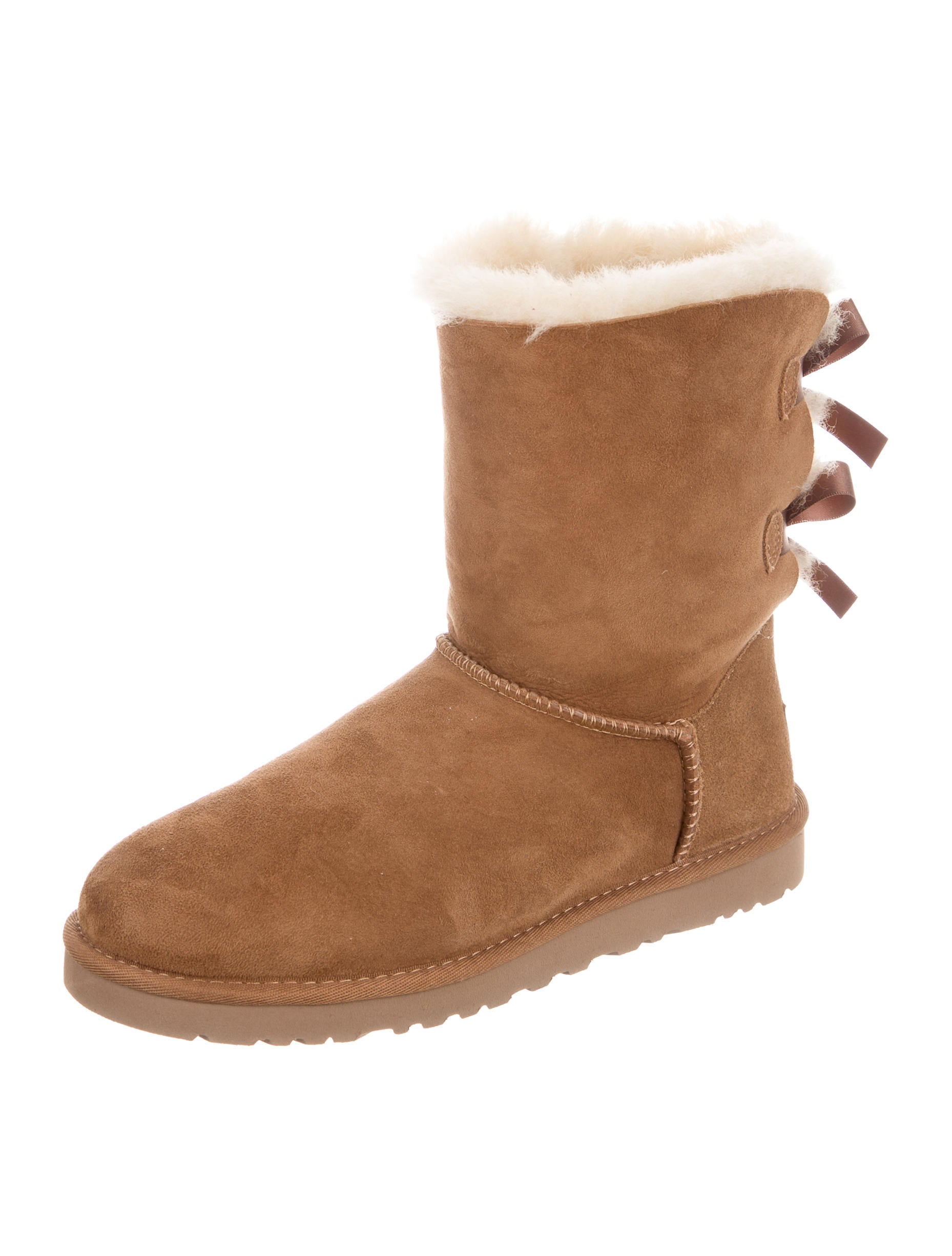 ugg australia suede bailey bow ankle boots shoes