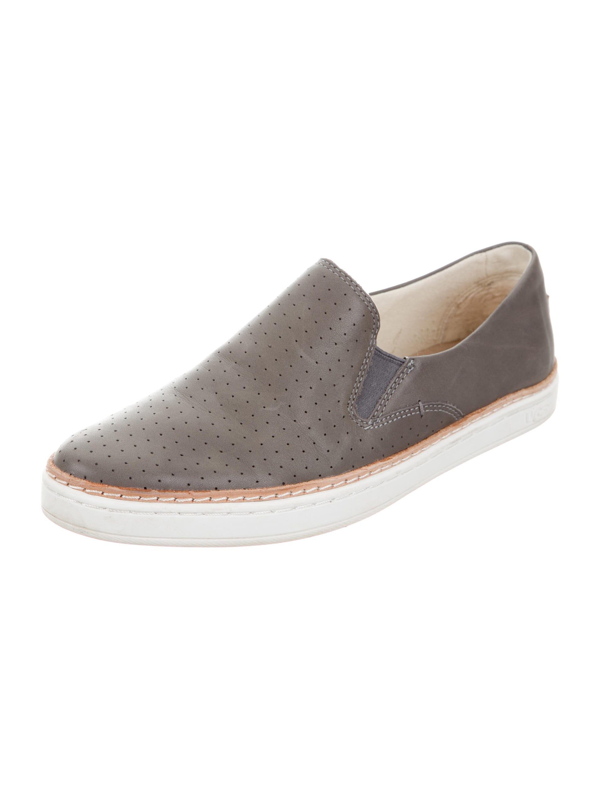 Ugg Australia Perforated Leather Slip On Sneakers Shoes