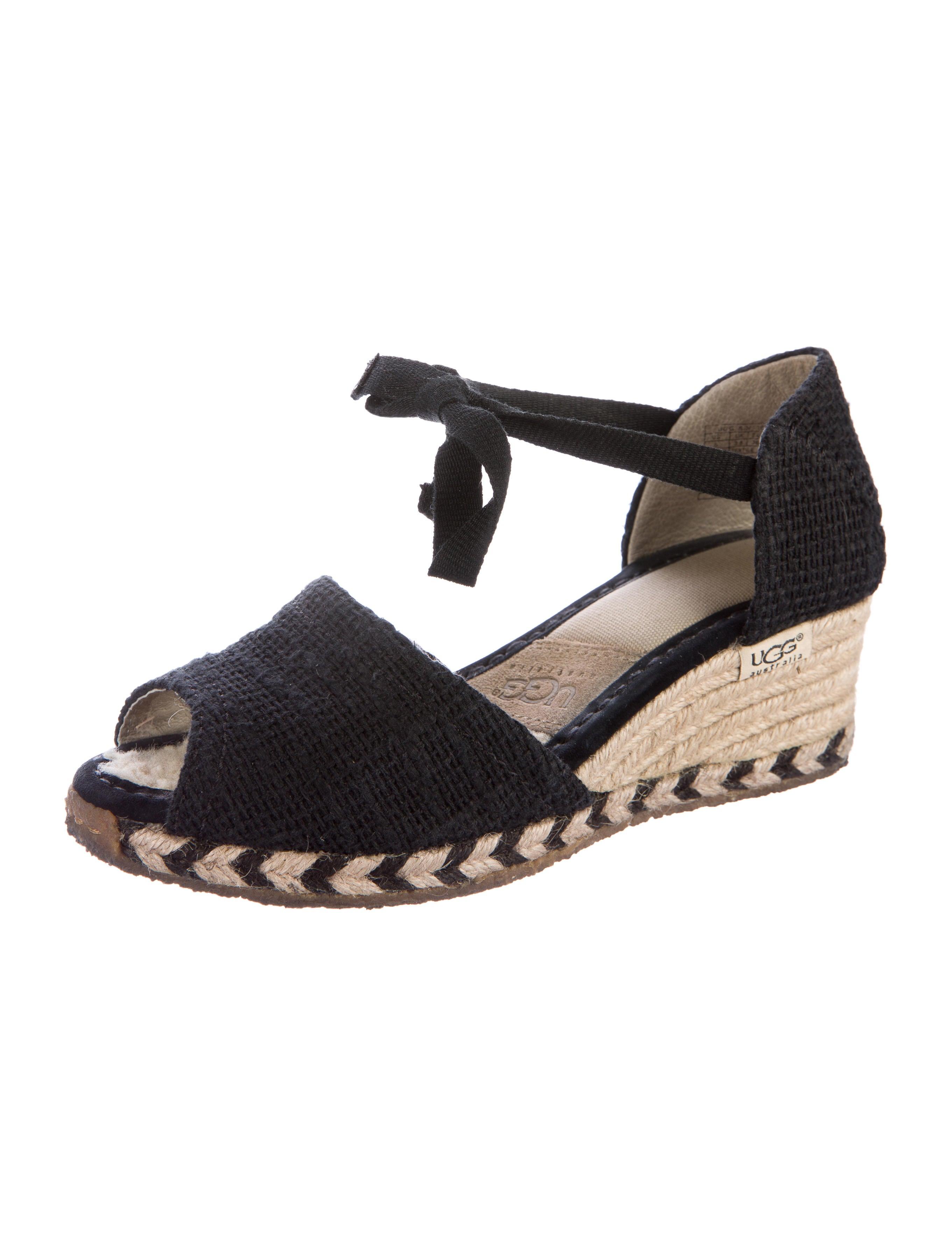 ugg australia peep toe espadrille wedges shoes